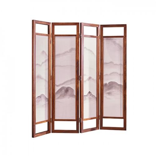 新中式简易折叠屏风隔