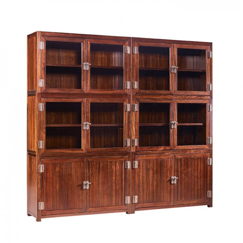 新中式玻璃书柜书橱DP