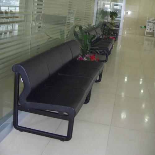 政府银行大堂真皮等候椅连体椅S316
