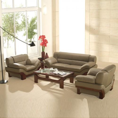 简易真皮办公沙发会客沙发S337
