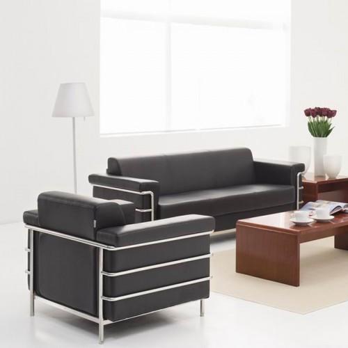 真皮纲架办公室沙发会客沙发S353