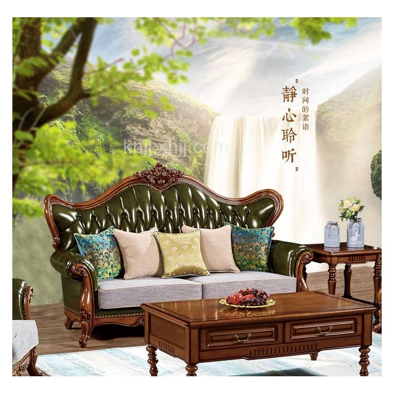 D-102美式实木沙发厂家批发加盟香河北京秦皇岛内蒙客厅家具