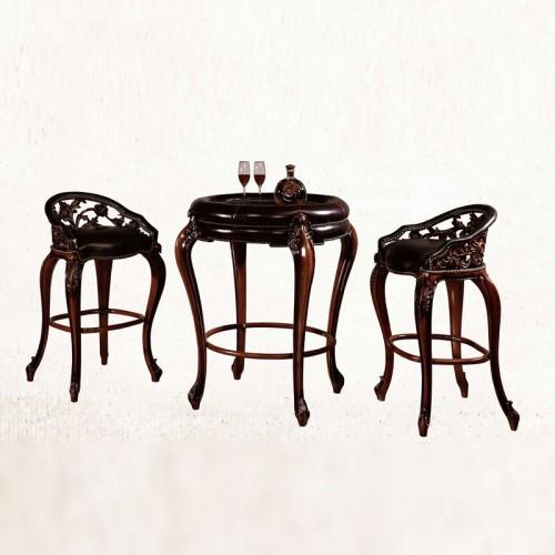 法式古典雕花圆吧台吧
