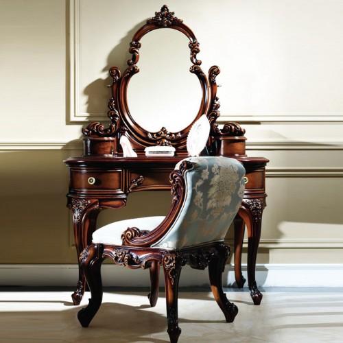 法式雕花梳妆台梳妆凳9003