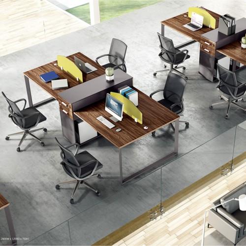 简约时尚板式屏风桌MS
