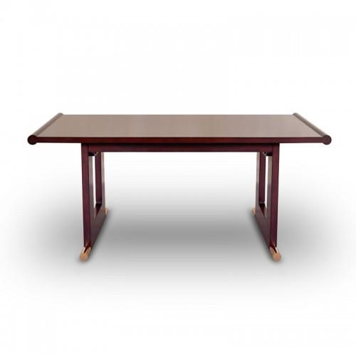 美式樱桃木书房书法桌