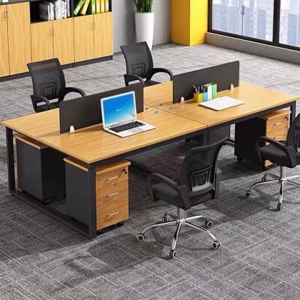 职员办公桌组合简约现代员工办公家具屏风隔断卡座工位46
