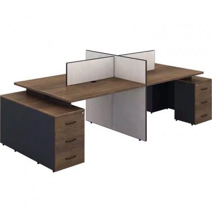 职员办公桌员工为卡座隔断现代简约办公家具46
