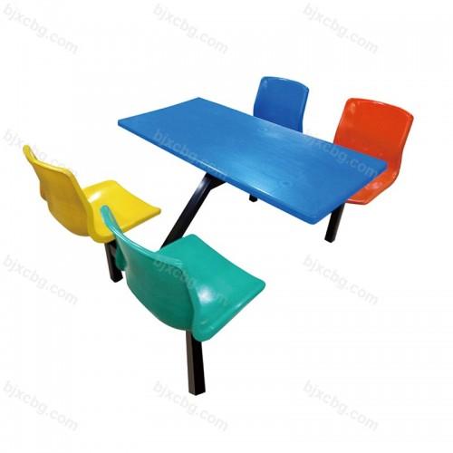 连体小吃简约现代餐桌椅07