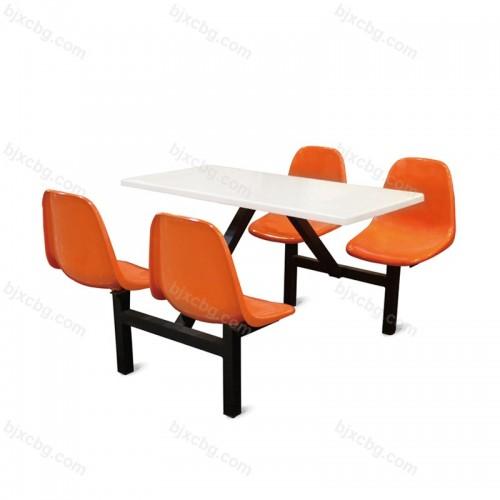 学校餐厅连体餐桌椅CZY-06