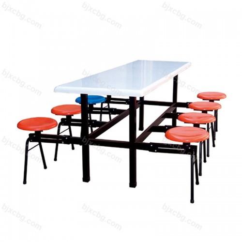 公司员工食堂连体餐桌椅CZY-05