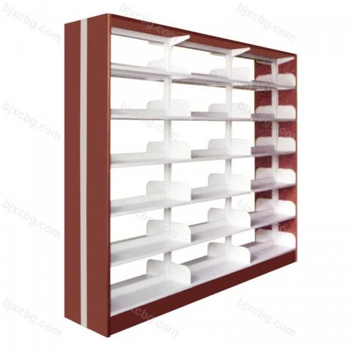 双柱双面钢木护板书架SJ-06