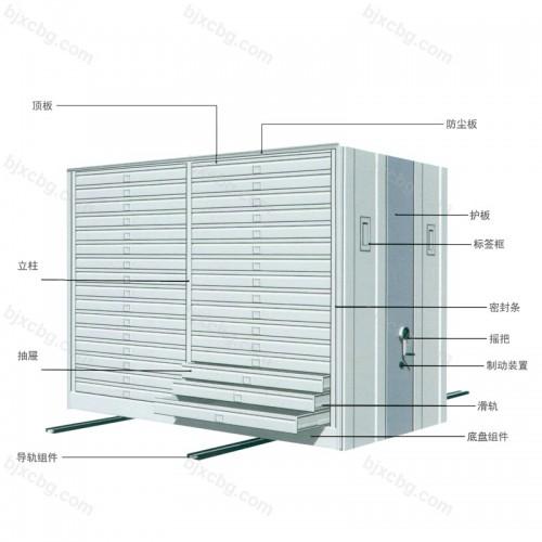 档案架置物架移动密集架柜MJG-06