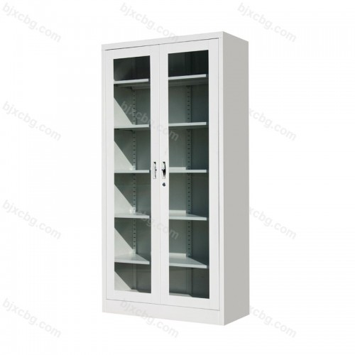 通体玻璃平开柜资料文件柜01