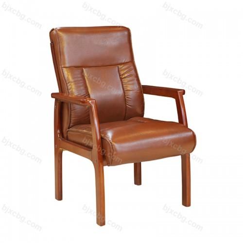 会议椅子实木真皮书房椅12