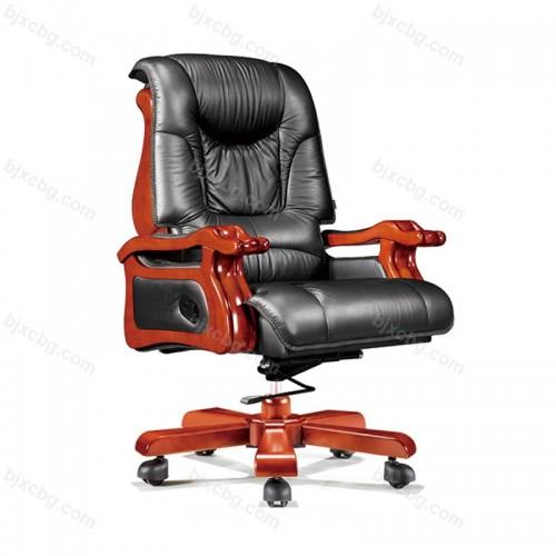实木大班椅固定扶手总裁椅15