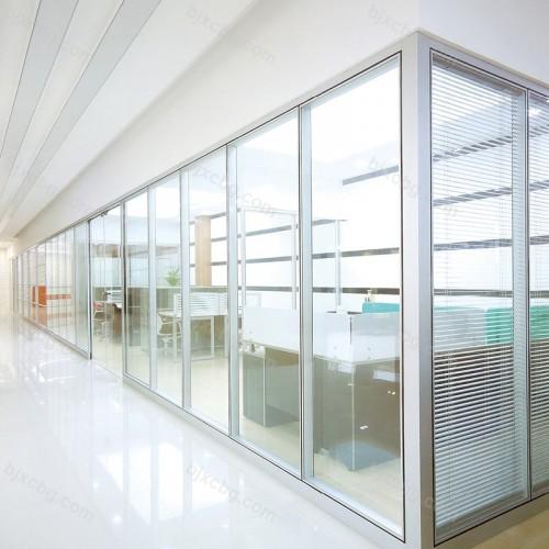办公室玻璃隔断墙铝合金隔断05