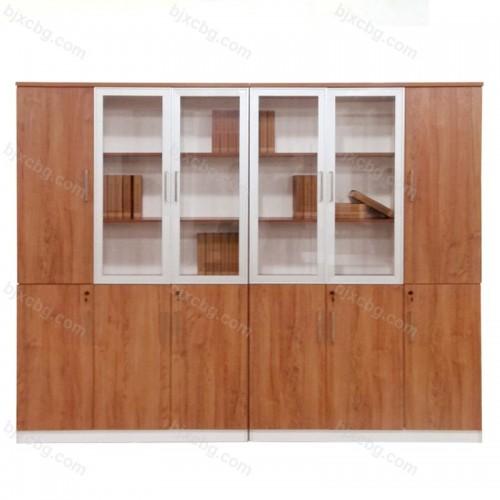 木质整理书柜落地柜34