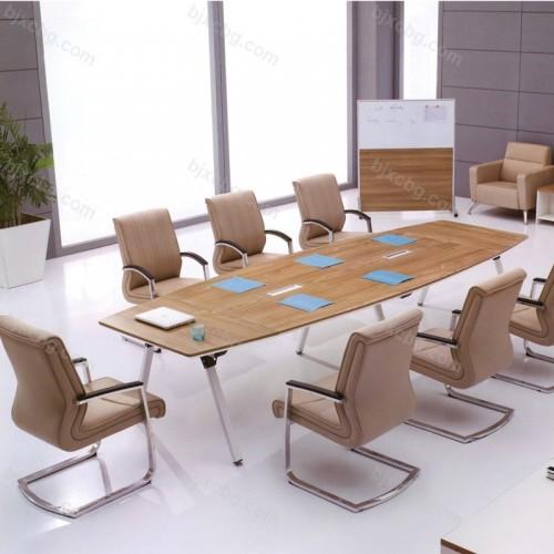 大板会议桌简约现代实木长桌子28