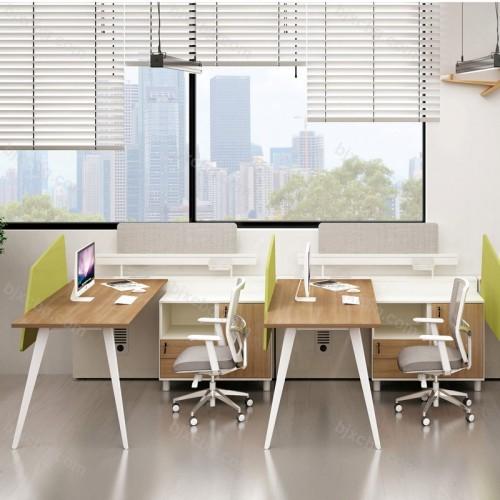 现代工作位员工屏风办公桌08