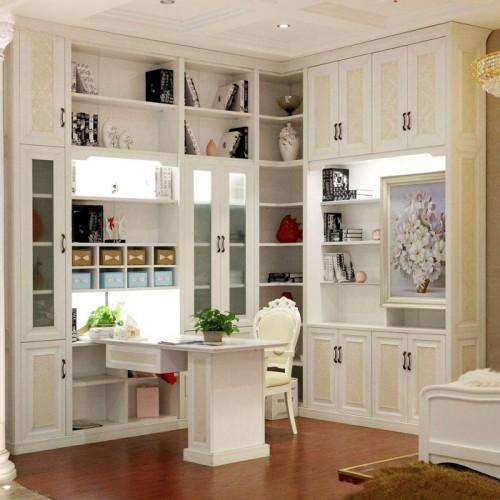 转角书柜书桌定制家具15