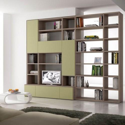 客厅创意书柜背景柜 16