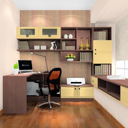 书房定制家具书桌书柜18