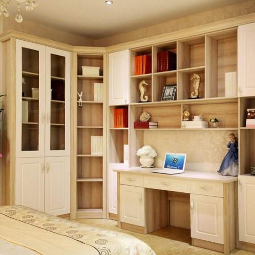 板式书房定制书柜书桌21