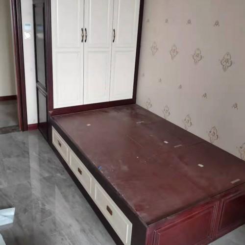 连体衣柜床定制家具15