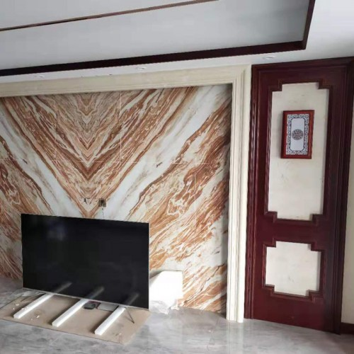 小户型客厅电视背景护墙板20