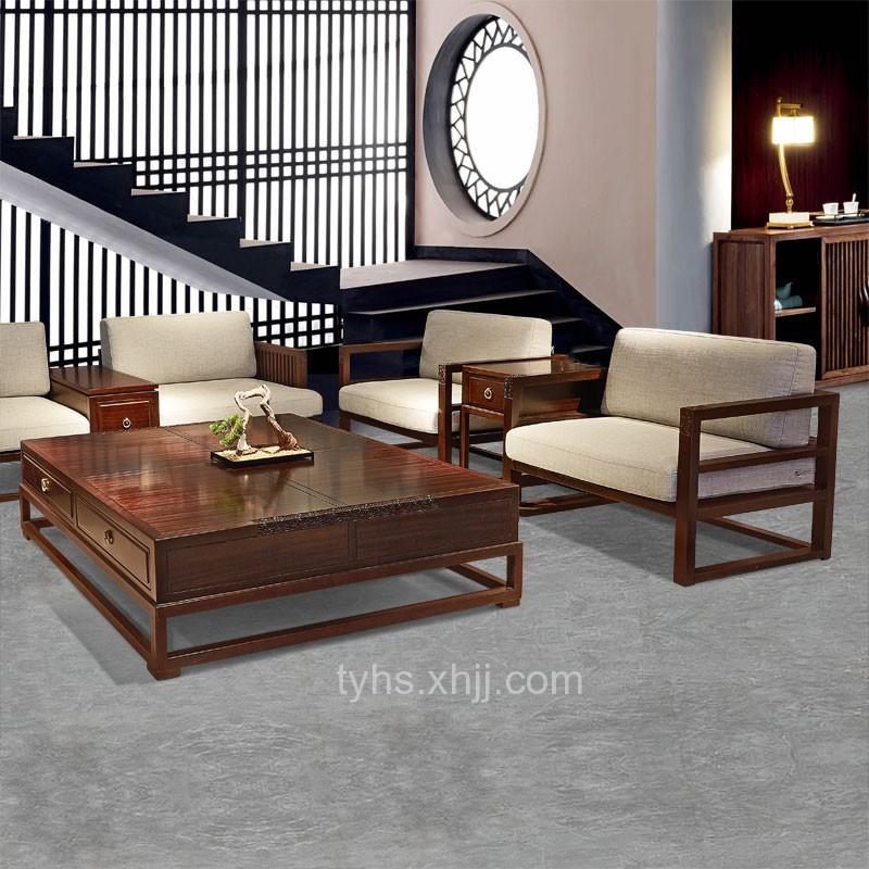 天悦恒森中式实木客厅沙发组合810