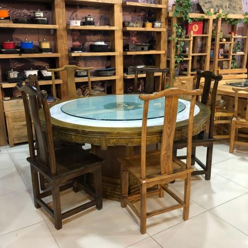 仿古中式酒店圆餐桌椅23