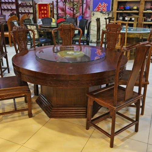 古典中式酒店圆餐桌椅24