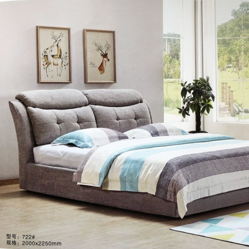 现代简约可拆洗布床软床722