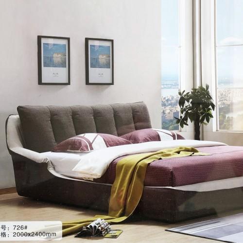 简约卧室轻奢布艺双人床软床726