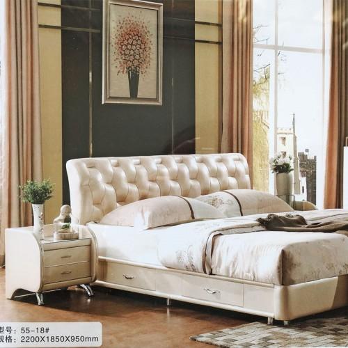 现代简约婚床卧室家具55-18