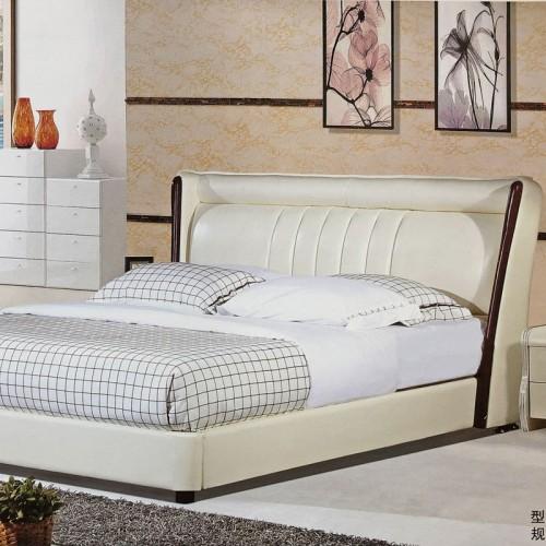 主卧婚床现代简约卧室软床55-10