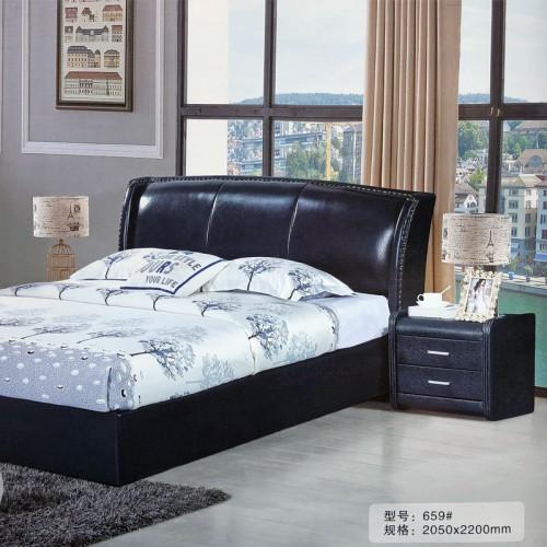 极简主卧双人床卧室软床659