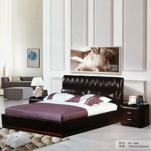 主卧室软包床婚床皮艺床55-08