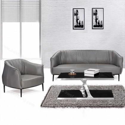 休闲皮沙发