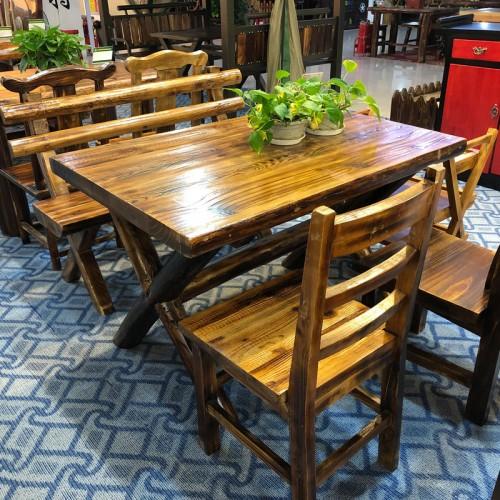 饭店实木桌椅组合小吃店桌椅16