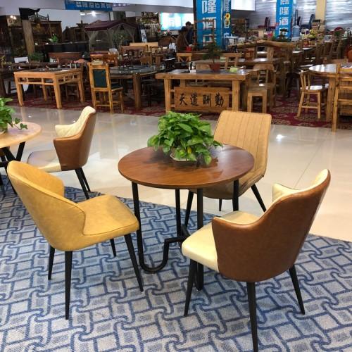 北欧餐桌椅奶茶店洽谈接待桌椅组合19