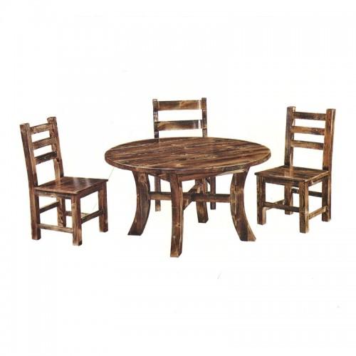 饭店松木餐桌椅组合04