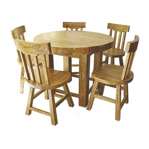 家用酒店老榆木餐桌椅16