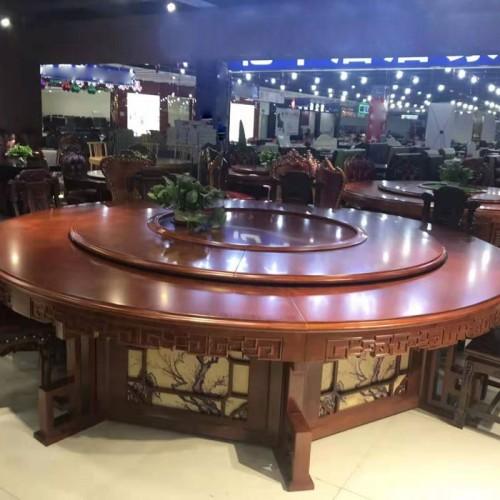酒店包房中式电动餐桌211