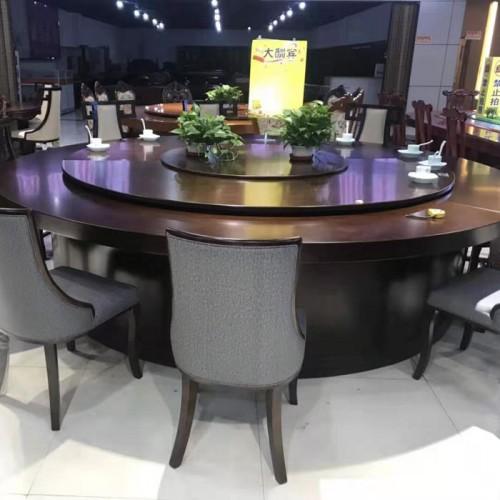 简约酒店餐厅电动餐桌213