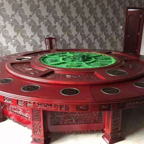 酒店圆餐桌火锅桌22