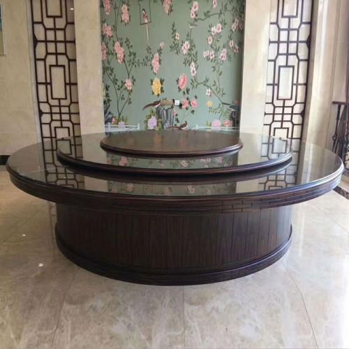 酒店现代电动圆餐桌217