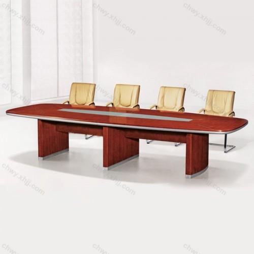实木皮 会议台 油漆桌11