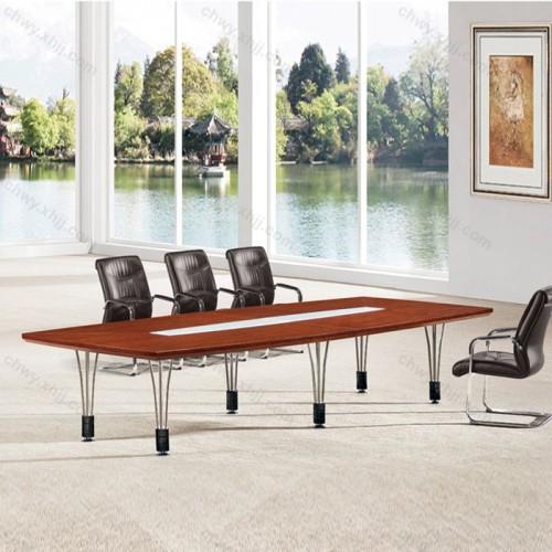 现代简约  钢脚实木贴皮会议桌12